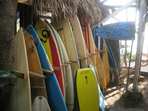 surfing in Nicaragua